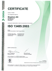 Bioptron Certificate ISO